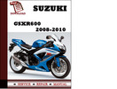 Thumbnail Suzuki GSXR600 2008 2009 2010 Workshop Service Repair Manual Pdf Download