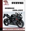 Thumbnail Suzuki GSXR600 2006 2007 Workshop Service Repair Manual Pdf Download