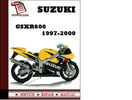Thumbnail Suzuki GSXR600 1997 1998 1999 2000 Workshop Service Repair Manual Pdf Download