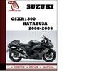 Thumbnail Suzuki GSXR1300 Hayabusa 2008 2009 Workshop Service Repair Manual Pdf Download