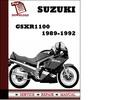 Thumbnail Suzuki GSXR1100 1989 1990 1991 1992  Workshop Service Repair Manual Pdf Download