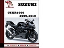 Thumbnail Suzuki GSXR1000 2009 2010 Workshop Service Repair Manual Pdf Download