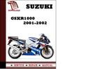 Thumbnail Suzuki GSXR1000 2001 2002 Workshop Service Repair Manual Pdf Download