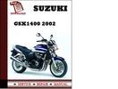 Thumbnail Suzuki GSX1400 2002 Workshop Service Repair Manual Pdf Download