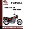 Thumbnail Suzuki GSX750-ES 1984 1985 1986 Workshop Service Repair Manual Pdf Download