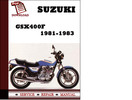 Thumbnail Suzuki GSX400F 1981 1982 1983 Workshop Service Repair Manual Pdf Download