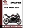 Thumbnail Suzuki GSX R1000 2009  Workshop Service Repair Manual Pdf Download