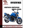Thumbnail Suzuki GSF650 GSF650S 2005 2006 Workshop Service Repair Manual Pdf Download