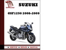 Thumbnail Suzuki GSF1250 2008 2009 Workshop Service Repair Manual Pdf Download