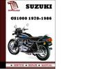 Thumbnail Suzuki GS1000 1978-1986 Workshop Service Repair Manual Pdf Download