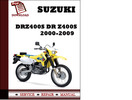 Thumbnail Suzuki DRZ400S DR Z400S 2000 2001 2002 2003 2004 2005 2006 2007 2008 2009 Workshop Service Repair Manual Pdf Download