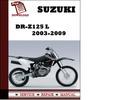 Thumbnail Suzuki DR-Z125 L 2003 2004 2005 2006 2007 2008 2009 Workshop Service Repair Manual Pdf Download