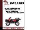 Thumbnail Polaris Sportsman 800 EFI Sportsman X2 800 EFI Sportsman Touring 800 EFI  2009 Workshop Service Repair Manual Pdf Download