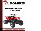Thumbnail Polaris Scrambler 500 4x4 2009 Workshop Service Repair Manual Pdf Download