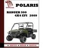 Thumbnail Polaris Ranger 500 4x4 EFI 2009 Workshop Service Repair Manual Pdf Download