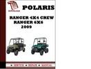 Thumbnail Polaris Ranger 4x4 Crew 2009 Ranger 6x6 2009 Workshop Service Repair Manual Pdf Download