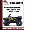 Thumbnail ATV Polaris Sportsman Xplorer 500  1996 1997 1998 1999 2000 2001 2002 2003 Workshop Service Repair Manual Pdf Download
