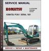 Thumbnail Komatsu PC45-1 Serial 1001 and up Factory Service Repair Manual Download Pdf