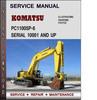 Thumbnail Komatsu PC1100SP-6 Serial 10001 and up Factory Service Repair Manual Download Pdf