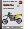 Thumbnail Husaberg FS 450 2000-2004 Factory Service Repair Manual Download Pdf
