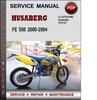 Thumbnail Husaberg FE 550 2000-2004 Factory Service Repair Manual Download Pdf