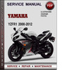 Thumbnail Yamaha YZFR1 2000-2012 Factory Service Repair Manual Download Pdf