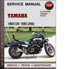 Thumbnail Yamaha VMX12N 1985-2000 Factory Service Repair Manual Download Pdf
