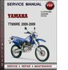 Thumbnail Yamaha TT600RE 2000-2009 Factory Service Repair Manual Download Pdf