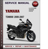 Thumbnail Yamaha TDM900 2000-2007 Factory Service Repair Manual Download Pdf