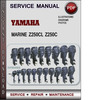 Thumbnail Yamaha Marine Z250CL Z250C Factory Service Repair Manual Download Pdf