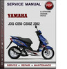 Thumbnail Yamaha JOG CS50 CS50Z 2002 Factory Service Repair Manual Download Pdf