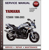 Thumbnail Yamaha FZS600 1996-2003 Factory Service Repair Manual Download Pdf