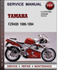 Thumbnail Yamaha FZR400 1986-1994 Factory Service Repair Manual Download Pdf
