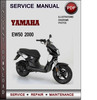 Thumbnail Yamaha EW50 2000 Factory Service Repair Manual Download Pdf