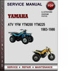 Thumbnail Yamaha ATV YFM YTM200 YTM225 1983-1986 Factory Service Repair Manual Download Pdf