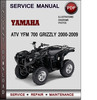 Thumbnail Yamaha ATV YFM 700 Grizzly 2000-2009 Factory Service Repair Manual Download Pdf