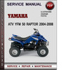 Thumbnail Yamaha ATV YFM 50 Raptor 2004-2008 Factory Service Repair Manual Download Pdf