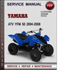 Thumbnail Yamaha ATV YFM 50 2004-2008 Factory Service Repair Manual Download Pdf