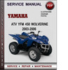 Thumbnail Yamaha ATV YFM 450 Wolverine 2003-2006 Factory Service Repair Manual Download Pdf