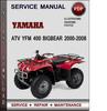 Thumbnail Yamaha ATV YFM 400 Bigbear 2000-2008 Factory Service Repair Manual Download Pdf
