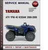 Thumbnail Yamaha ATV YFM 40 Kodiak 2000-2009 Factory Service Repair Manual Download Pdf