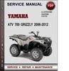 Thumbnail Yamaha ATV 700 Grizzly 2006-2012 Factory Service Repair Manual Download Pdf