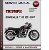 Thumbnail Triumph Bonneville T100 2001-2007 Factory Service Repair Manual Download Pdf