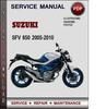 Thumbnail Suzuki SFV 650 2005-2010 Factory Service Repair Manual Download Pdf