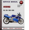 Thumbnail Suzuki RG 250 1983-1990 Factory Service Repair Manual Download Pdf