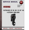 Thumbnail Suzuki Outboard DF 90 100 115 DF 140 4-stroke 2000-2009 Factory Service Repair Manual Download Pdf