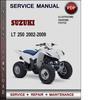 Thumbnail Suzuki LT 250 2002-2009 Factory Service Repair Manual Download Pdf