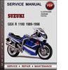 Thumbnail Suzuki GSX R 1100 1989-1998 Factory Service Repair Manual Download Pdf