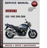 Thumbnail Suzuki GSX 1400 2000-2008 Factory Service Repair Manual Download Pdf