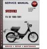 Thumbnail Suzuki FA 50 1980-1991 Factory Service Repair Manual Download Pdf